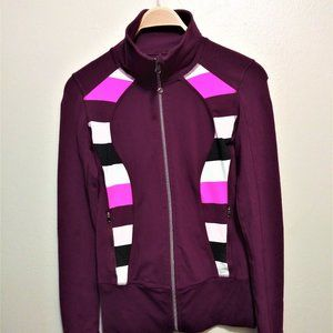 Lululemon Purple Plum Luon full zip flex jacket